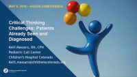 Critical-Thinking Challenges in Telehealth Nursing: Patients Already Seen and Diagnosed