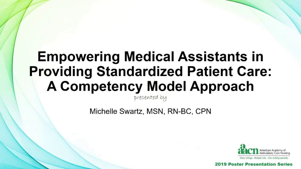 Empowering Medical Assistants in Providing Standardized Patient Care: A Competency Model Approach