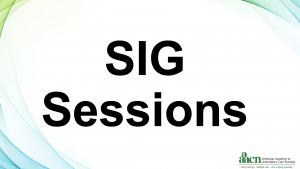 SIG Sessions