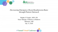 Decreasing Emergency Room Readmission Rates through Patient Outreach icon