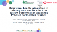 Behavioral Health Integration in Primary Care and Its Effect on Patient Outcomes: An Academic Practice Partnership Project icon