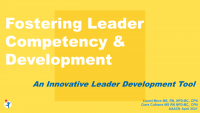 Fostering Leader Competency and Development Using an Innovative Leader Development Tool icon