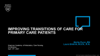 Improving Transitions of Care for Community Patients: The Registered Nurse Clinical Liaison