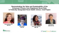 Demonstrating the Value and Sustainability of the Enhanced Primary Care Registered Nurse Role in Federally Designated Rural Health Clinics: A QI Project