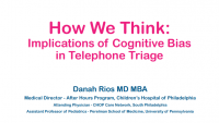How to Think Better: Implications of Cognitive Bias in Telephone Triage