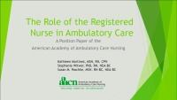 The Role of the RN in Ambulatory Care