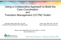 Using a Collaborative Approach to Build the Care Coordination and Transition Management (CCTM) Toolkit icon