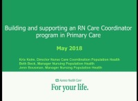 Building and Supporting an RN Care Coordinator Program in Primary Care icon