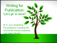"""Writing for Publication: """"Let's Git 'Er Done!"""" icon"""