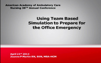 Using Team-Based Simulation to Prepare for the Office Emergency icon