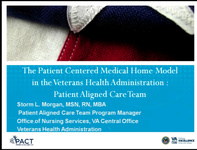 Special In-Brief Session: The Veterans Health Administration PCMH Model: An Ambulatory Care Coordination PACT icon