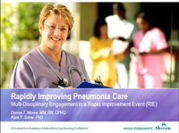 Rapidly Improving Pneumonia Care: Multi-Disciplinary Engagement in a Rapid Improvement Event (RIE)