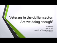 Veterans in the Civilian Sector: Are We Doing Enough? icon