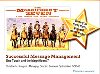 Successful Message Management - One Touch and the Magnificent Seven icon
