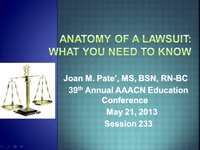 Special In-Brief Session: Anatomy of a Lawsuit: What You Should Know icon