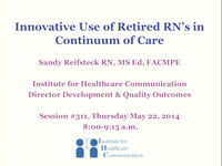 Innovative Use of Retired RNs in Continuum of Care icon