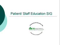 Patient/Staff Education SIG icon