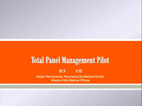 Total Panel Management Pilot: Creating Capacity for Member Clinic Visits in Pediatrics: An Innovative Way to Transform and Re-Imagine How We Deliver Pediatric Care to Our Members with the Use of Technology icon