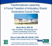 Transformational Leadership: A Formal Transition of Ambulatory Shared Governances Council Chairs