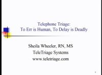 Telephone Triage: To Err is Human, To Delay Is Deadly icon