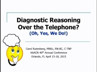 Diagnostic Reasoning Over the Telephone? Oh, Yes, We Do! icon