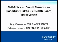 Self-Efficacy: Does It Serve as an Important Link to RN Health Coach Effectiveness? icon