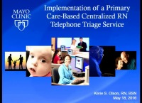 Implementation of a Primary Care-Based Centralized RN Telephone Triage Service icon