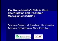 The Nurse Leader's Role in Care Coordination and Transition Management (CCTM) icon