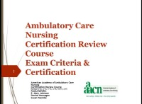 Ambulatory Care Nursing Certification Review Course icon
