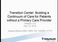 Transition Center: Building a Continuum of Care for Patients without a Primary Care Provider icon