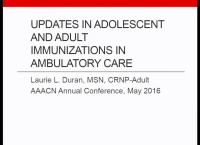 Special In-Brief Sessions: Updates in Adolescent and Adult Immunizations in Ambulatory Care; Quality Improvement Processes to Improve Immunization Rates: Successful Implementation of a QI Project Resulting in Proven Outcomes icon