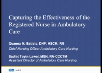 Special In-Brief Sessions: Capturing the Effectiveness of the Registered Nurse in Ambulatory Care: An Innovative Model of Care; Nurse Visit Standardization icon