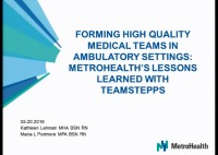 Forming High-Quality Medical Teams in Ambulatory Settings: MetroHealth's Lessons Learned with TeamSTEPPS icon
