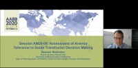 AM20-08: Assessment of Anemia Tolerance to Guide Transfusion Decision Making icon