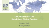 AM20-27: Oral Abstract Session -- Data Driven Clinical Practice icon