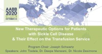 AM20-34: New Therapeutic Options for Patients with Sickle Cell Disease & Their Effect on the Transfusion Service icon
