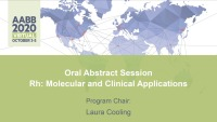 AM20-47: Oral Abstract Session --Rh: Molecular and Clinical Applications icon