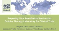 AM20-46: Preparing Your Transfusion Service and Cellular Therapy Laboratory for Clinical Trials icon