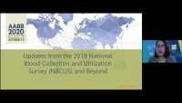 AM20-49: Updates from the 2019 National Blood Collection and Utilization Survey (NBCUS) and Beyond icon