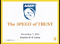 The Business of Practice: Keynote Presentation - The Speed of Trust icon