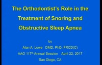 The Orthodontist's Role in the Treatment of Snoring and Obstructive Sleep Apnea icon