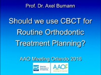 Should we use CBCT for Routine Orthodontic Treatment Planning? icon