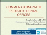 2018 AAO Annual Session - Communicating with Pediatric Dental Offices
