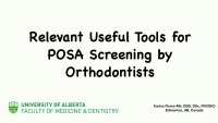 2019 Winter Conference - Relevant Useful Tools for Screening for SDB