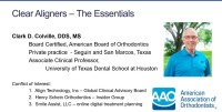 2019 Webinar - Clear Aligners - The Essentials