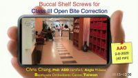 2020 Winter Conference - Buccal Shelf (BS) Screws for Class III Openbite Correction
