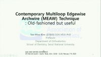 2020 Winter Conference - Contemporary Multiloop Edgewise Archwire (MEAW) Technique: Old-fashioned but Useful