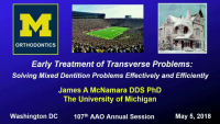 Early Treatment of Transverse Problems: Is it Worth the Effort? icon