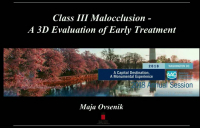 Class III Malocclusion: An Evaluation of Early Treatment icon
