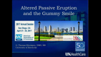 Altered Passive Eruption and the Gummy Smile